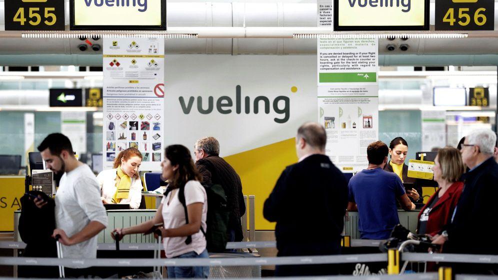 Foto: Mostrador de Vueling (Efe)