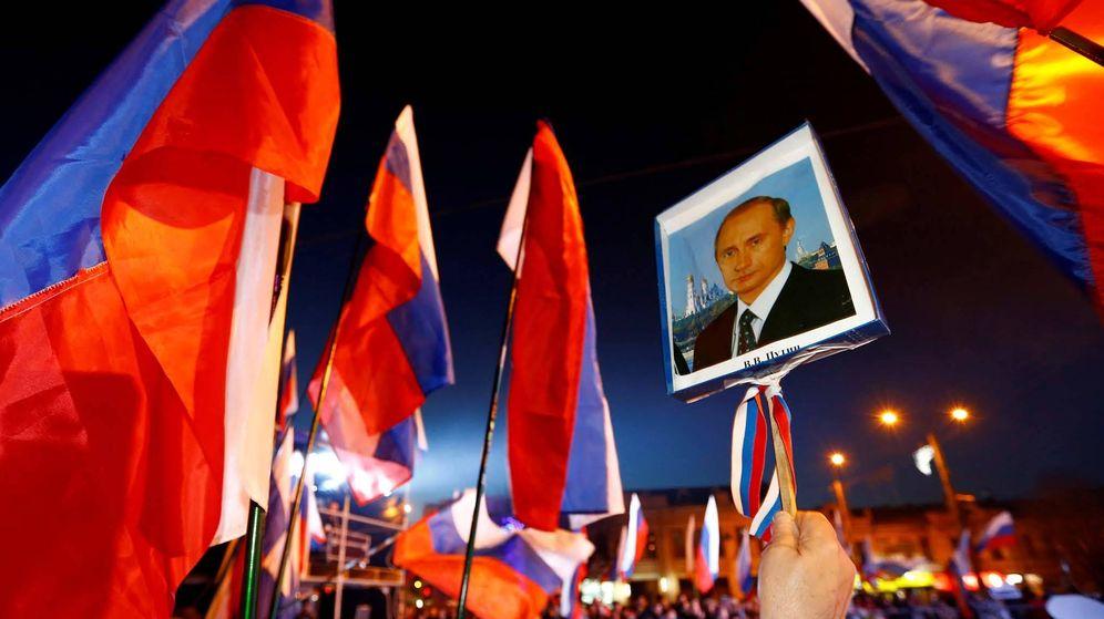 Foto: Celebración del quinto aniversario de la anexión de Crimea por parte de Rusia. (Reuters)