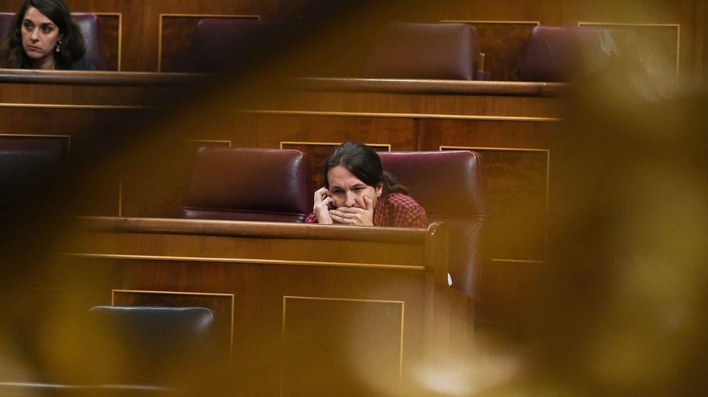 Foto: Pablo Iglesias en el pleno del Congreso de los Diputados. (EFE)
