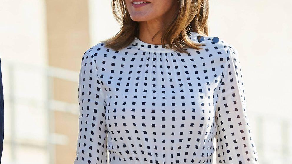 Massimo Dutti versiona el vestido más alabado de la reina Letizia