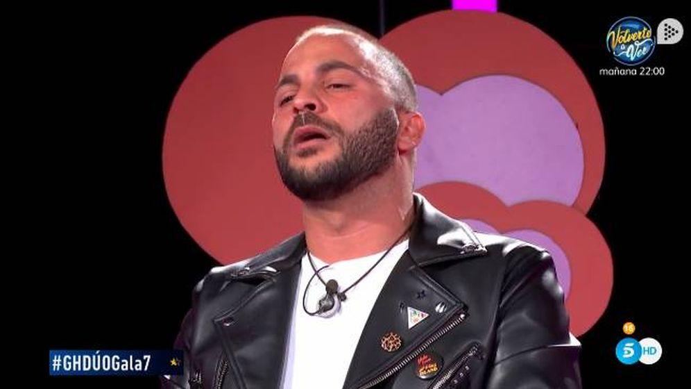 Foto: Antonio Tejado, llorando tras la visita de Candela en 'GH Dúo'. (Telecinco)
