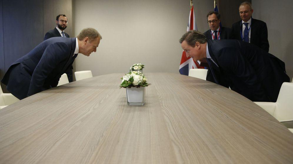 Foto: El primer ministro británico, David Cameron, y el presidente del Consejo europeo, Donald Tusk. (Reuters)