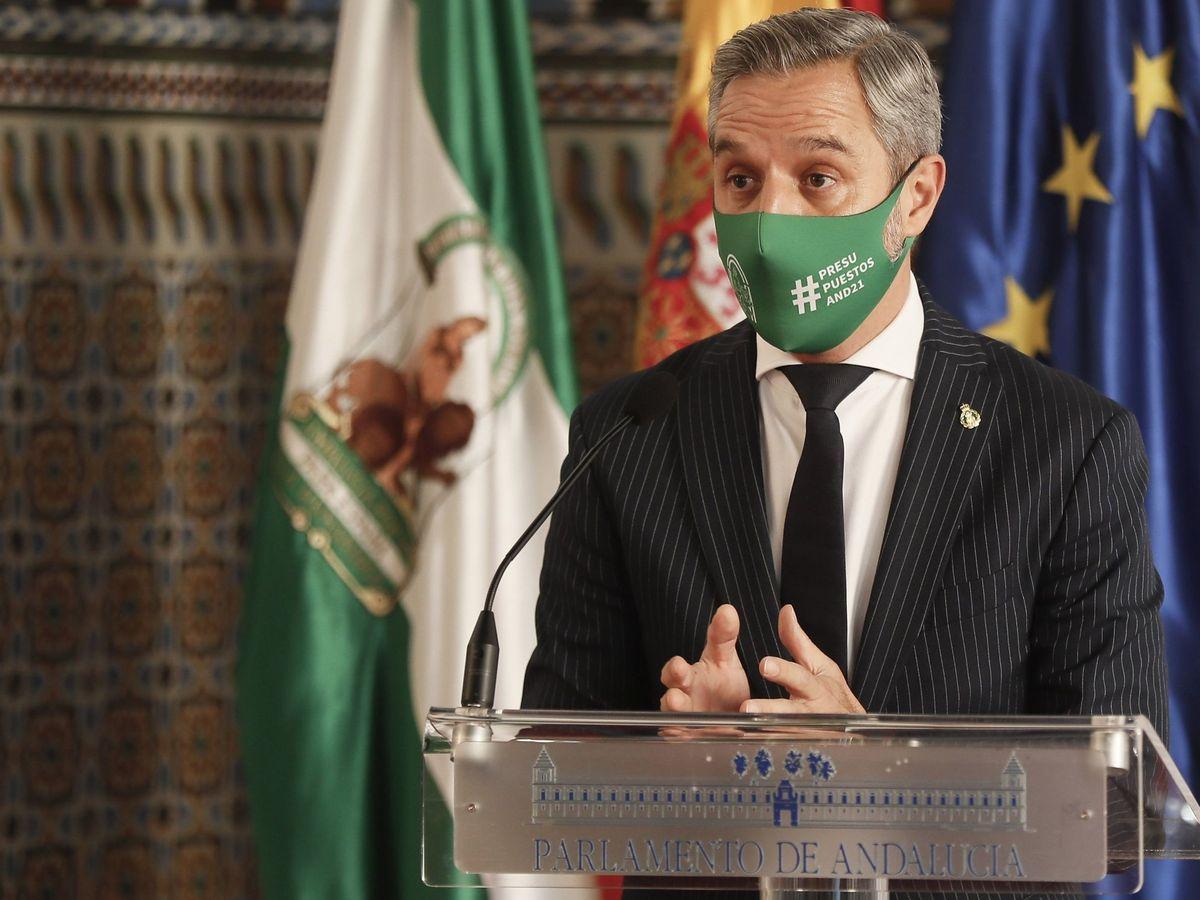 Foto: El consejero andaluz de Hacienda y Financiación Europea, Juan Bravo. (EFE)