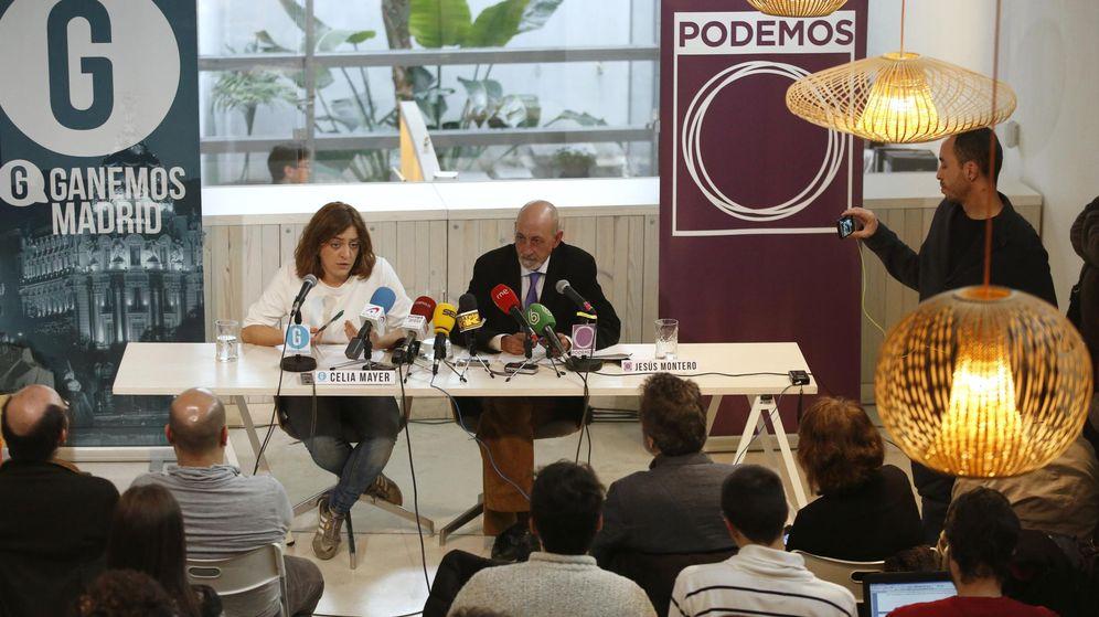 Foto: Presentación del acuerdo entre Ganemos Madrid y Podemos en enero de 2015 para concurrir juntos a las elecciones bajo las siglas de Ahora Madrid. (EFE)