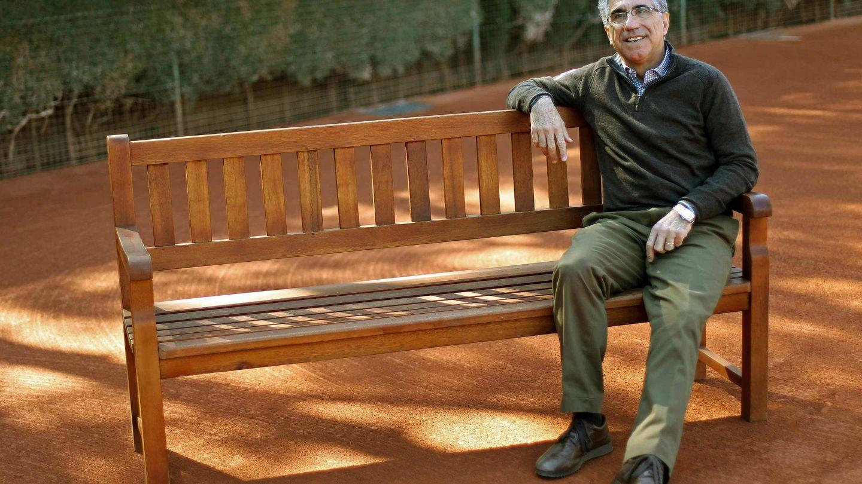 Manuel Orantes en el Real Club de Tenis de Barcelona.