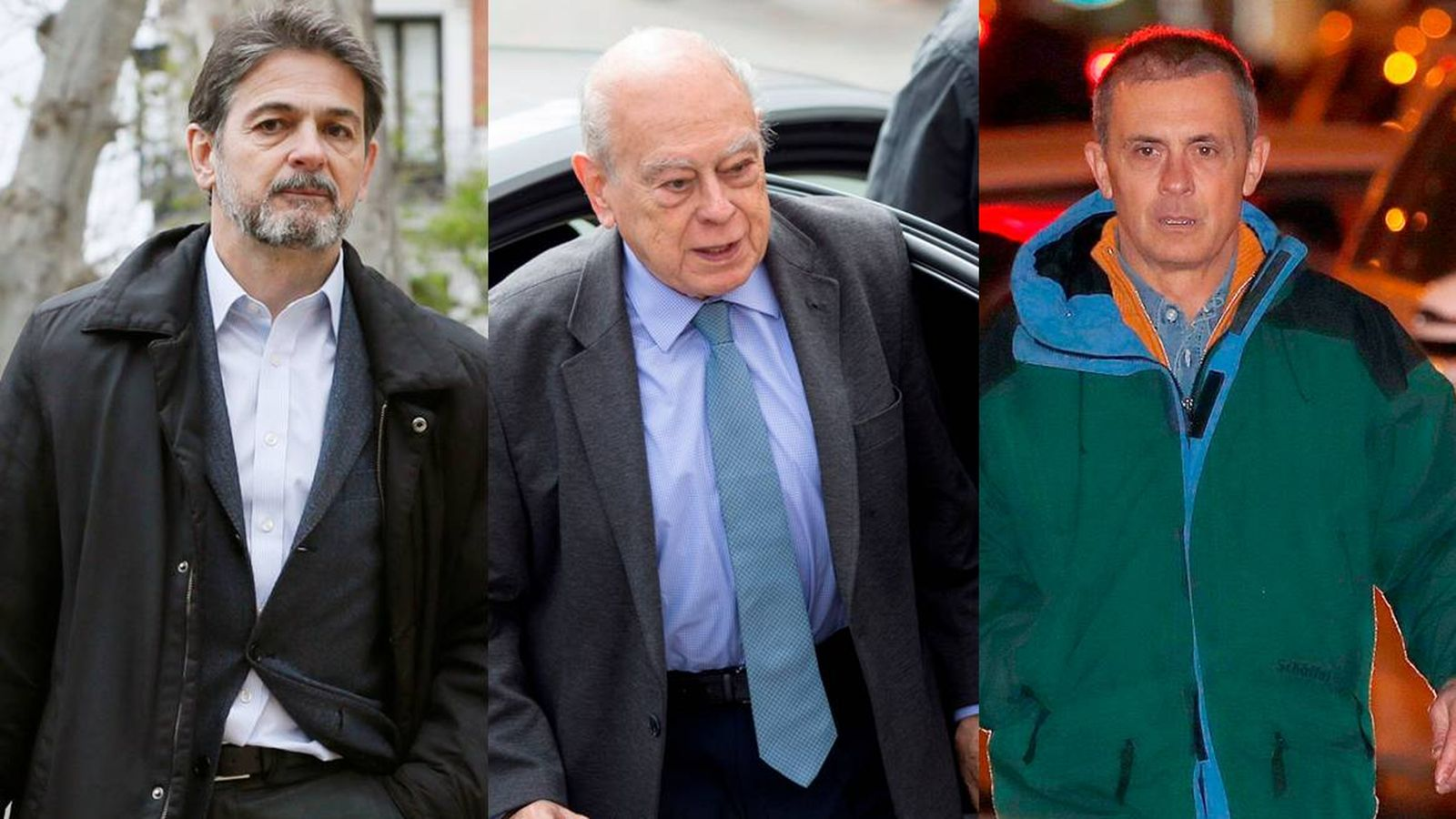 Foto: Oriol Pujol (i), Jordi Pujol (c) y Jordi Pujol Ferrusola. (EFE)