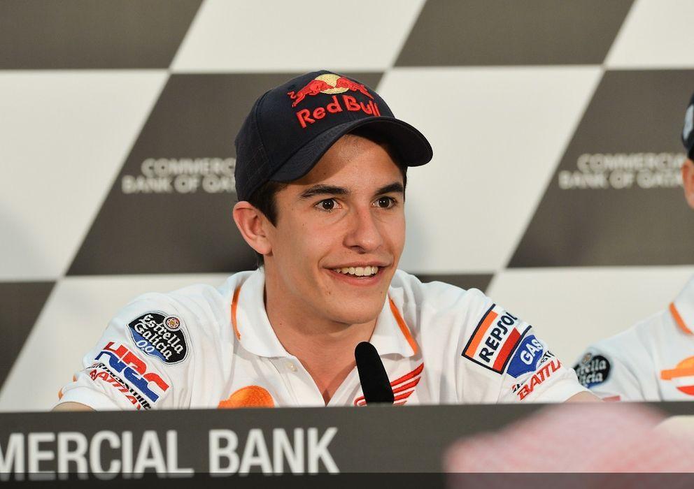 Foto: Marc Márquez en la rueda de prensa previa a los primeros libres de Qatar (MotoGP).