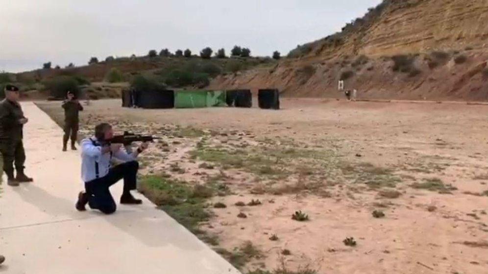 Foto: El vídeo de Ortega Smith disparando difundido a través de redes sociales.