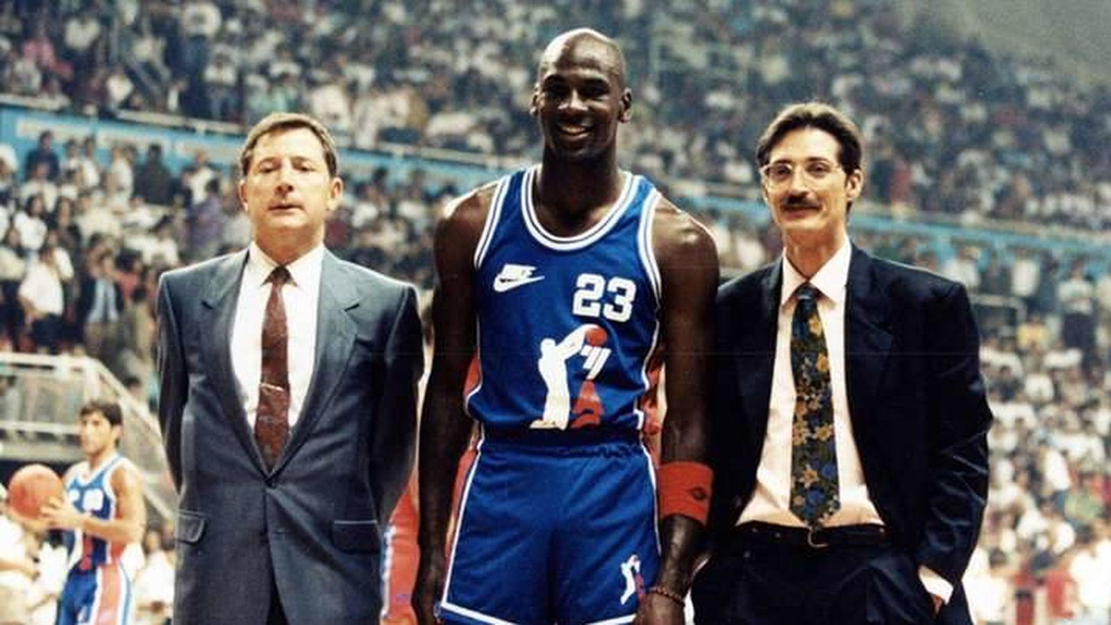 Foto: Michael Jordan en la presentación de la ACB 1990/1991. (ACB)