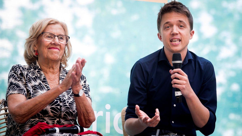 Foto: Manuela Carmena e Íñigo Errejón, en un acto electoral de Más Madrid. (EFE)