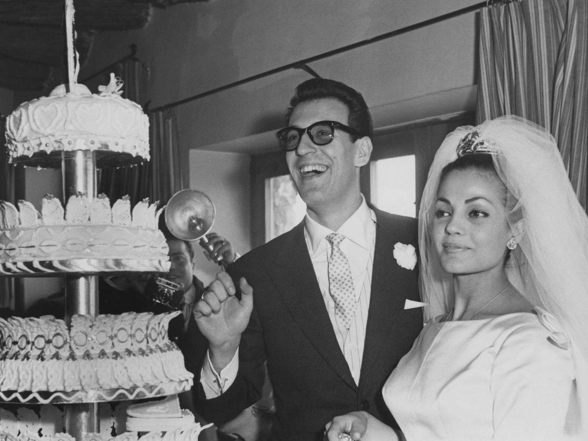 Foto: Carmen Sevilla en su boda con Augusto Algueró. (Getty)