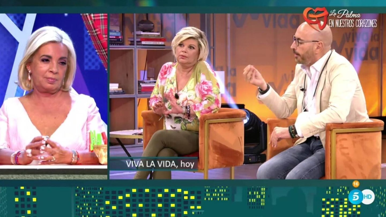 Borrego, Terelu y y Arrabal. (Telecinco).