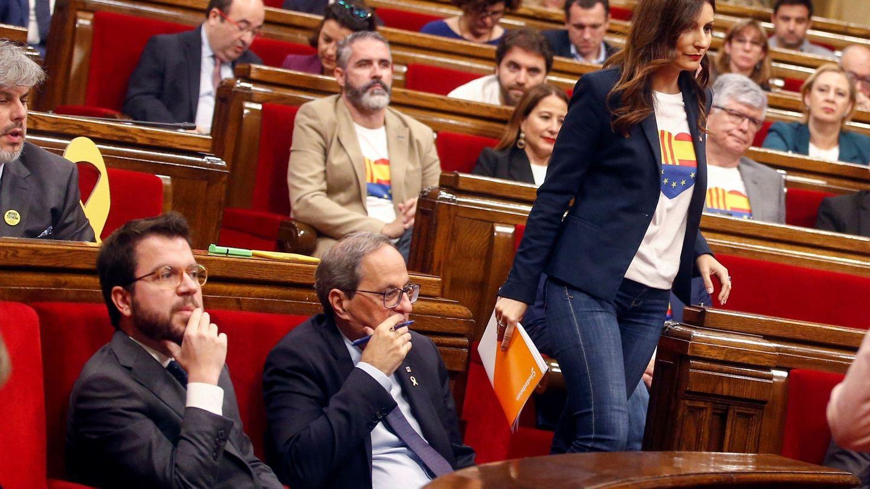 Lorena Roldán, en el Parlament. (EFE)