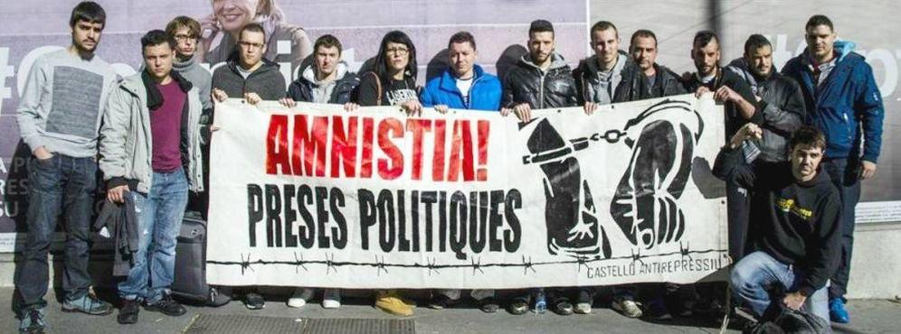 Foto: Los miembros de 'La Insurgencia' piden la amnistía de los presos políticos.