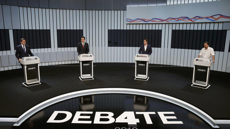Las mentiras y las verdades del debate a cuatro entre Rajoy, Sánchez, Iglesias y Rivera