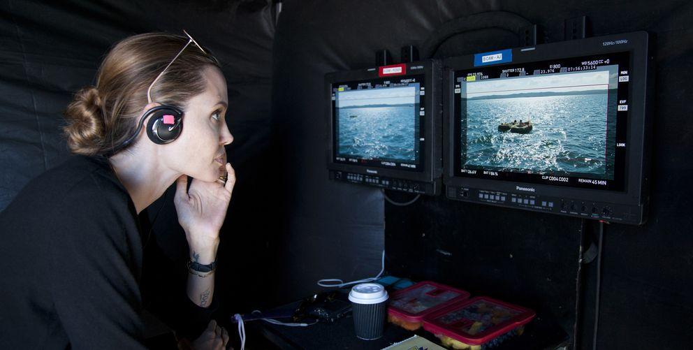 Foto: Angelina Jolie, la mujer más taquillera de 2014, en el rodaje de 'Invencible' (Universal)