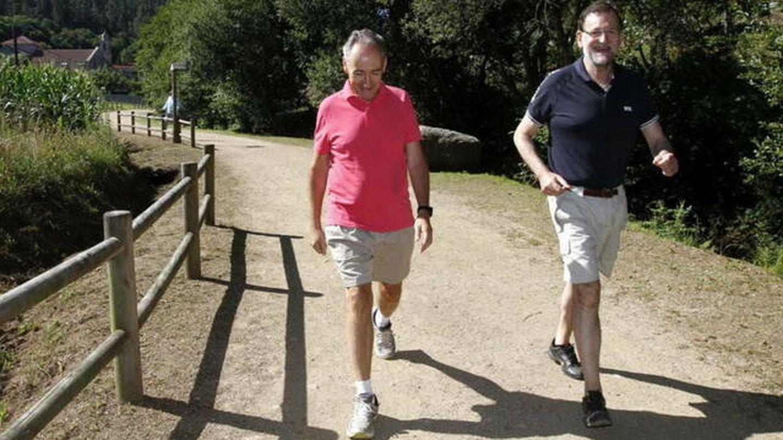 Mariano Rajoy, en la Ruta da Pedra e da Auga en 2015. (EFE)