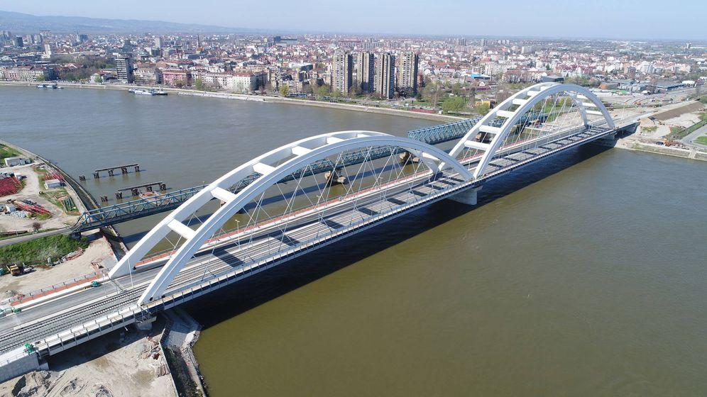 Foto: Puente construido por Azvi en Serbia. (Foto: Grupo Azvi)