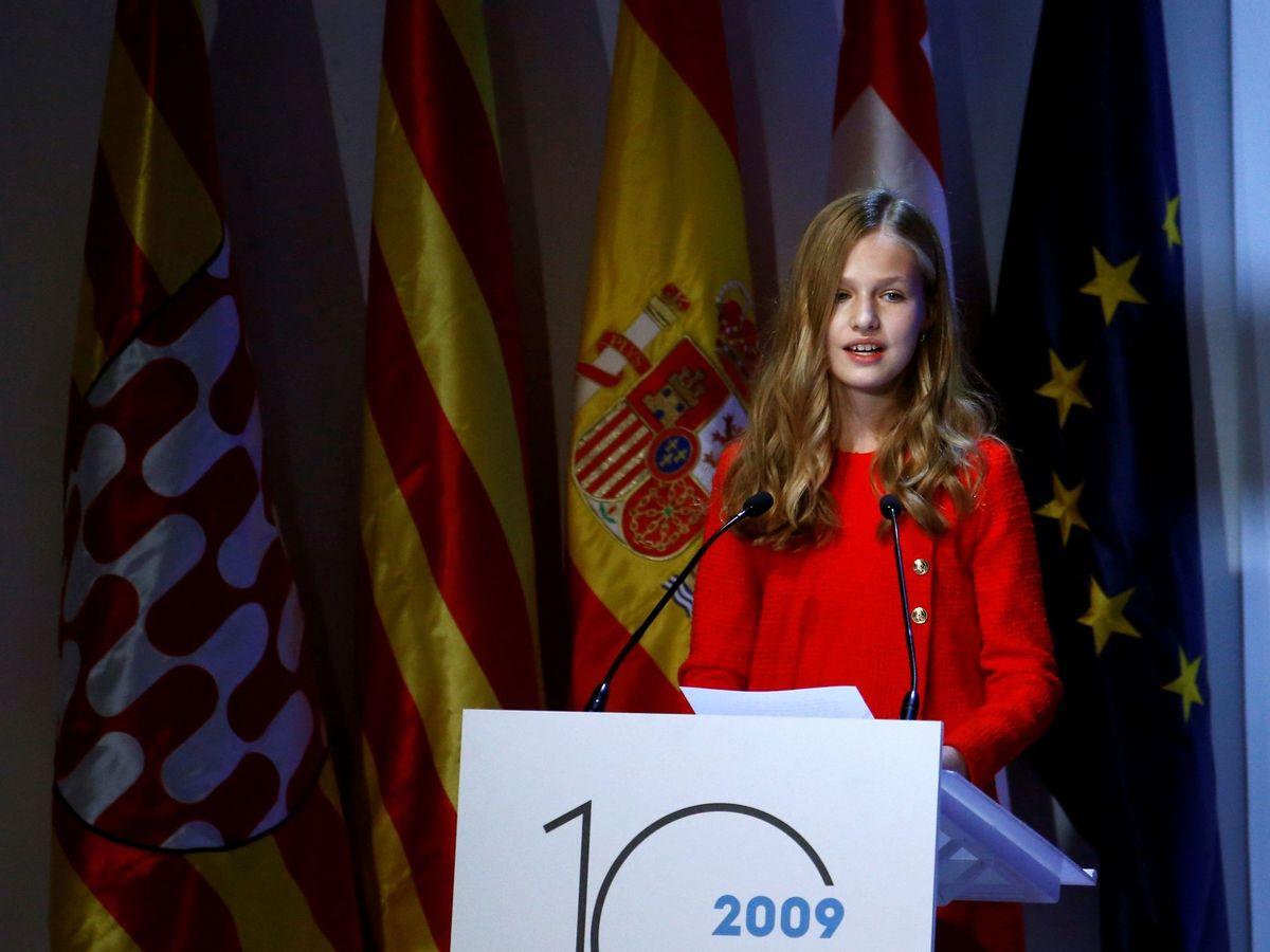 Foto: La princesa Leonor, en la edición de 2019. (EFE)