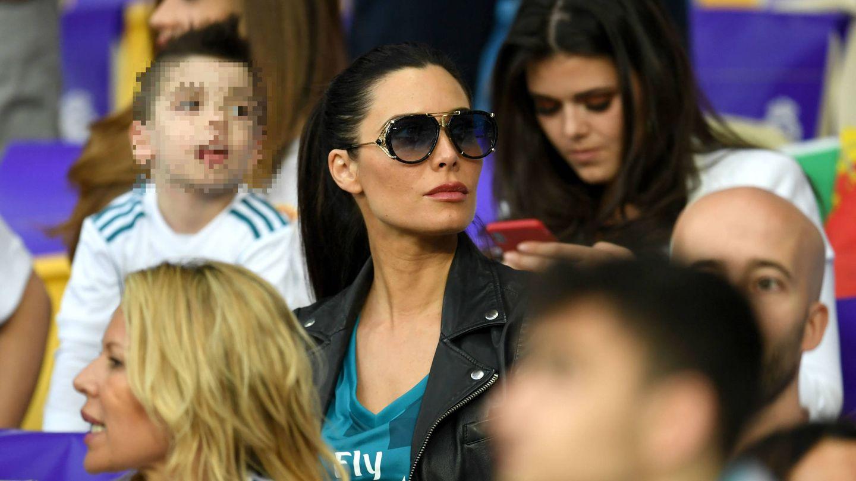 Pilar Rubio, en uno de los partidos de Sergio Ramos. (Getty)