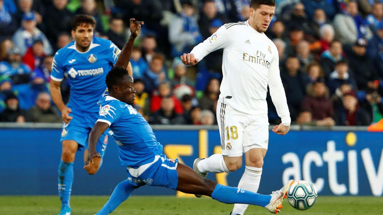Luka Jovic solo ha marcado un gol esta temporada. (Reuters)