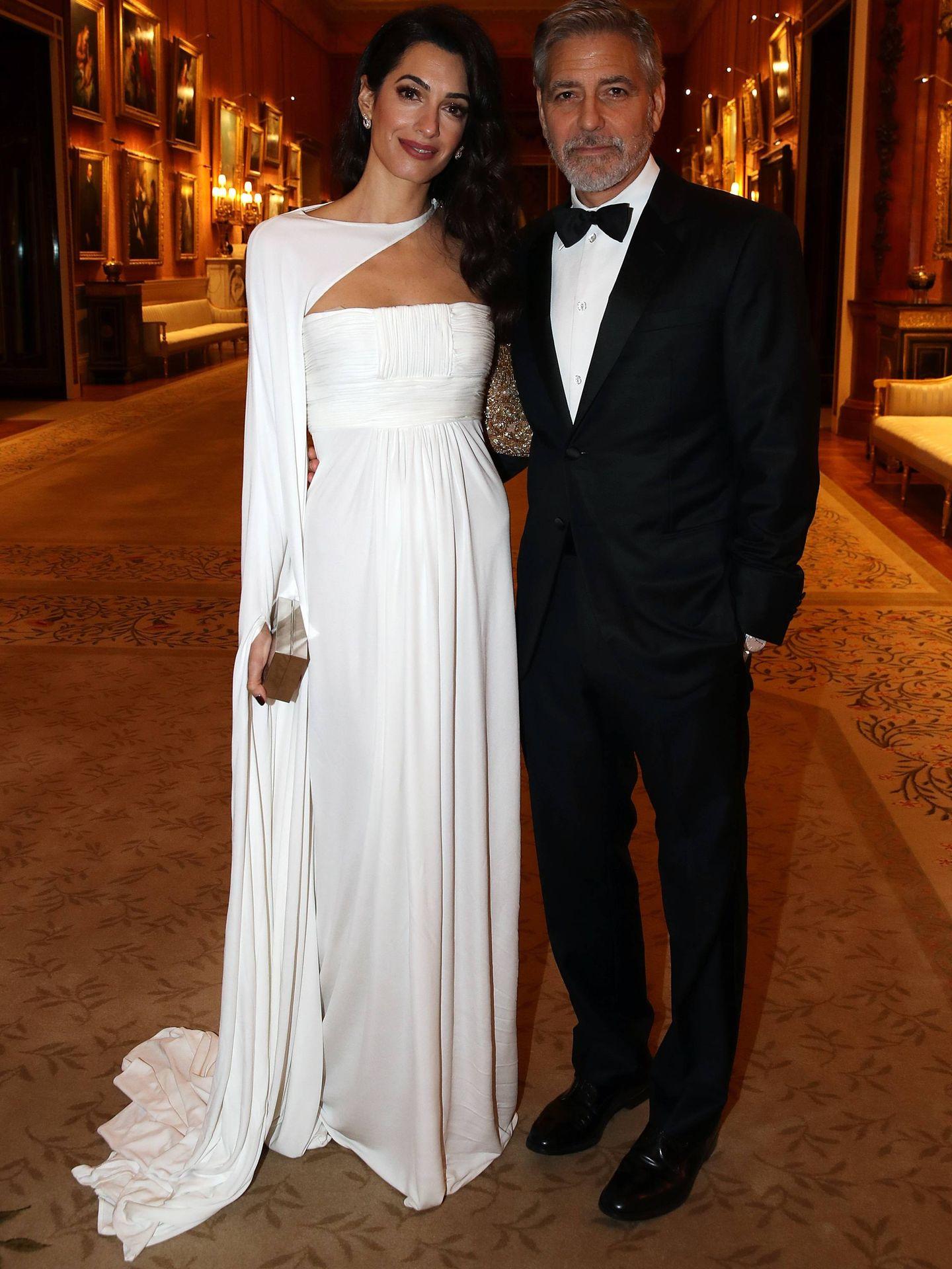 Amal y George Clooney en la cena de The Prince's Trust. (Getty)