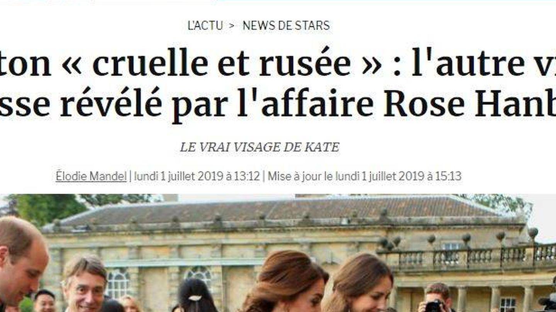 Titular de un reciente artículo de la edición francesa de 'Gala'.