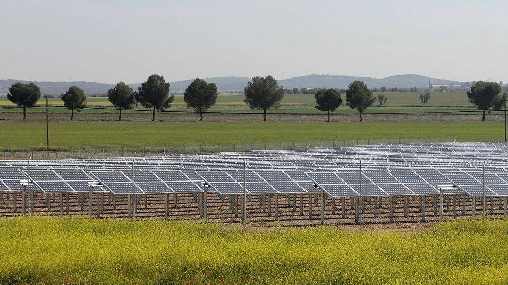 Foto: Imagen de un campo de placas solares. (EFE)
