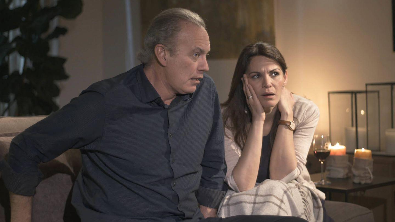 Bertín Osborne y Fabiola Martínez, en 'Mi casa es la tuya'. (Mediaset)