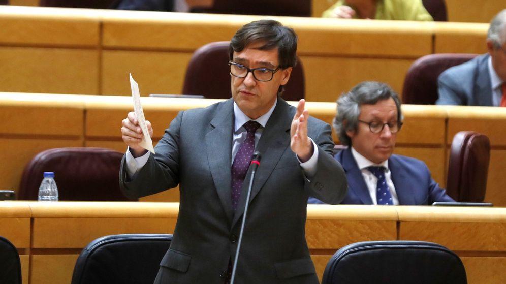 Foto: Salvador Illa, ministro de Sanidad, el pasado 30 de junio en el Senado. (EFE)