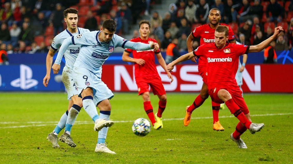 El fallo de Morata y el horror del Atlético de Madrid en Leverkusen