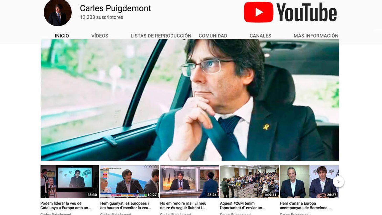 Foto: Canal de Youtube de Carles Puigdemont.