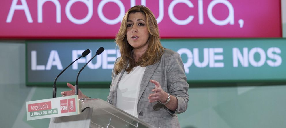 Foto: Susana Díaz, actual presidenta de la Junta de Andalucía y favorita en la encuesta del Egopa (EFE)