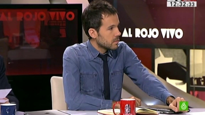 Javier Gómez en el programa 'Al rojo vivo'. (La Sexta)