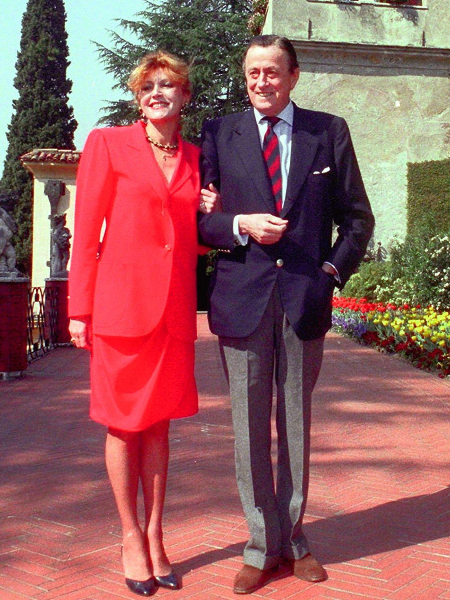 Tita y el barón Thyssen en Villa Favorita en 2002 (Gtres)