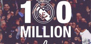 Post de Así fue la loca batalla que ganó el Madrid al Barça para llegar a 100 millones en FB
