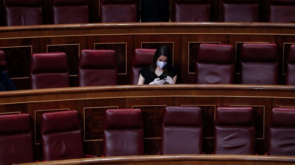 Foto: La portavoz de Cs, Inés Arrimadas, en el Congreso. (EFE)