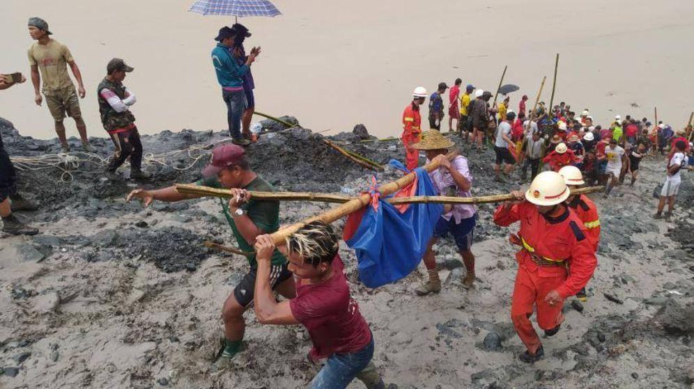 Foto: Escenario del incidente, en el norte de Myanmar