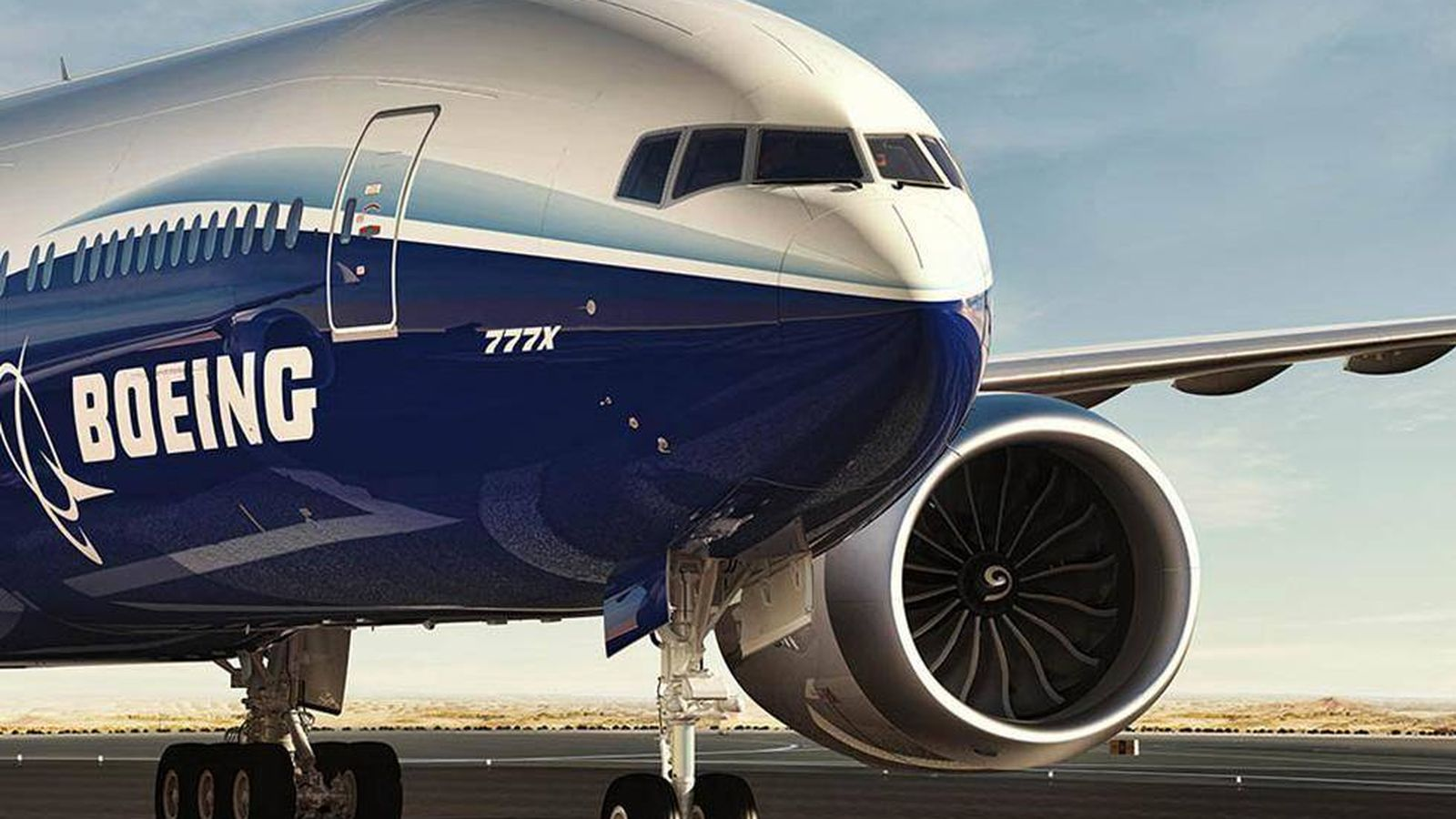 Foto: Imagen del nuevo 777X de Boeing. (Boeing)