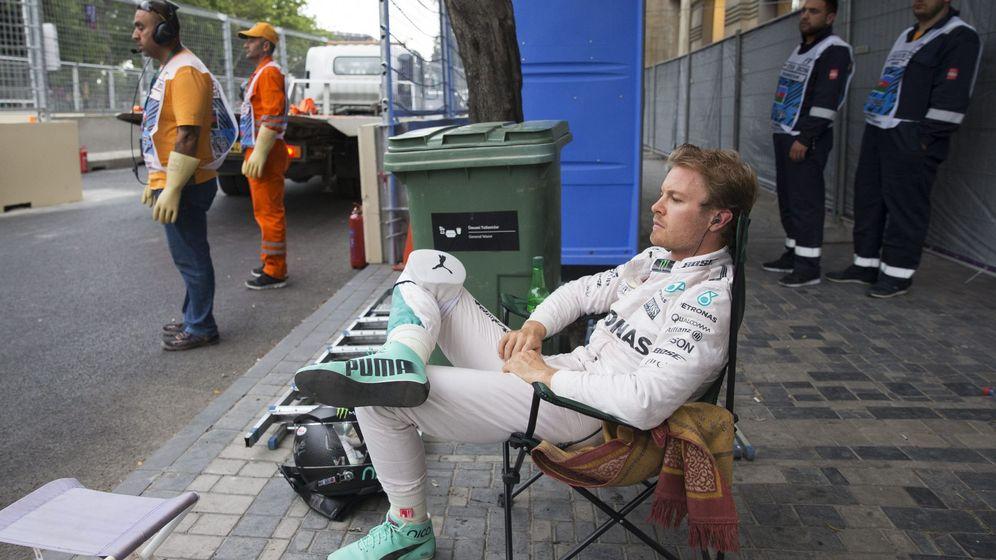 Foto: Nico Rosberg en el circuito urbano de Bakú.