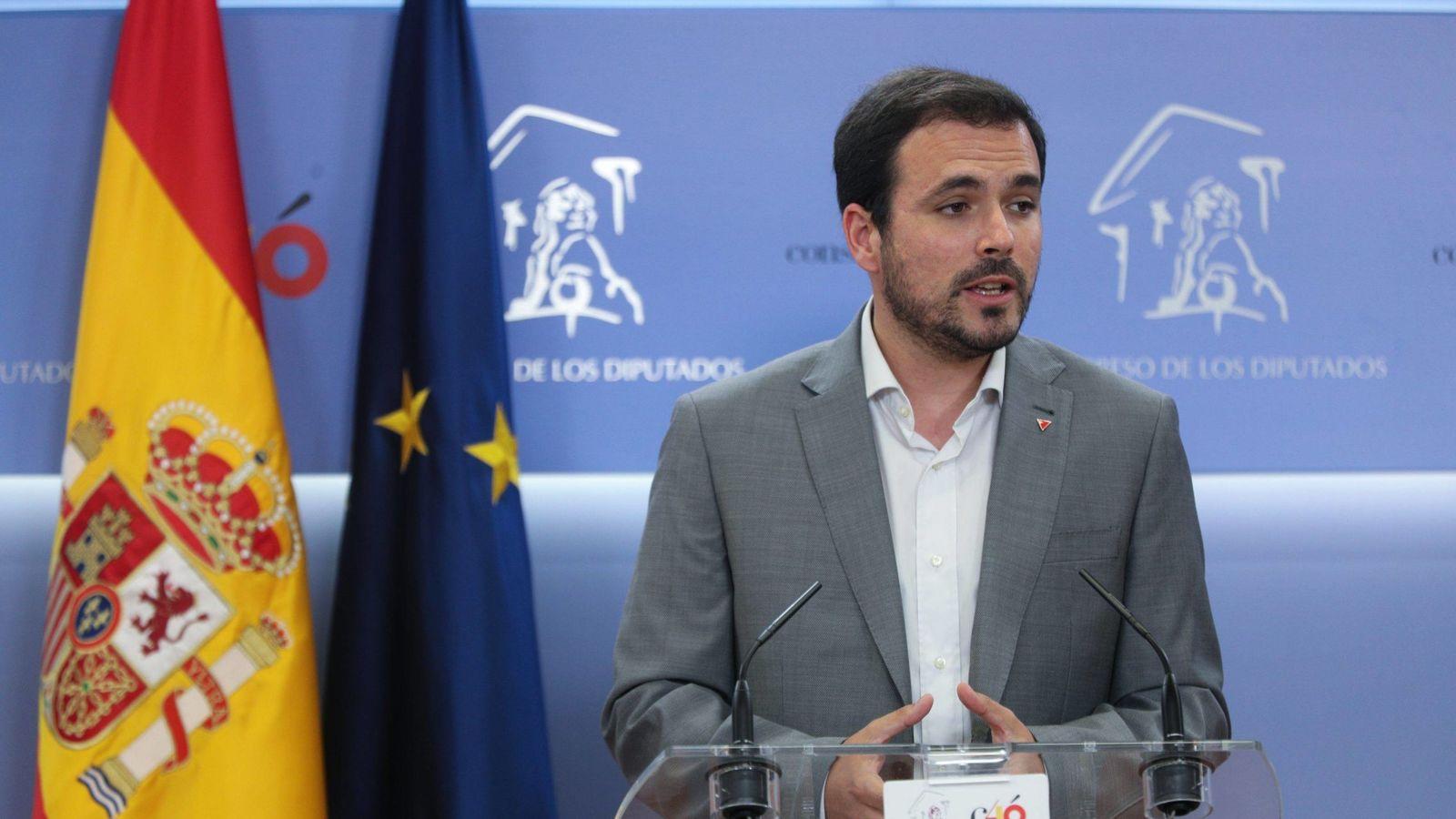 Foto: Alberto Garzón, coordinador federal de Izquierda Unida. (EFE)