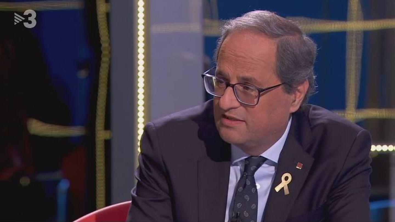 Quim Torra, en el plató de 'Preguntes Freqüents'. (TV3).
