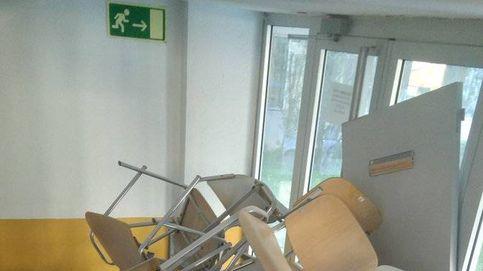 Huelga en Educación: destrozos en la Facultad de Economía de la Universidad Autónoma de Madrid
