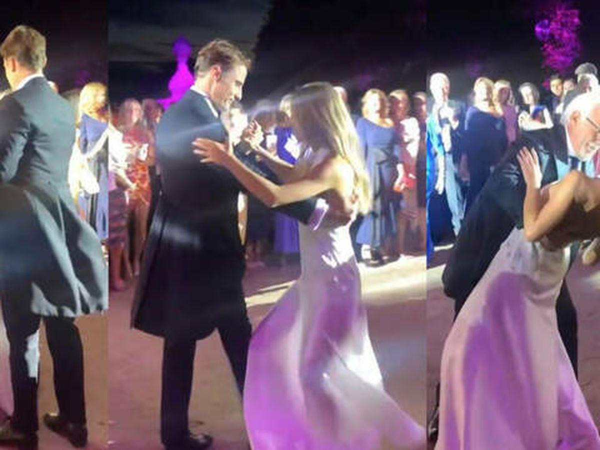 Foto: Lucía Bárcena baila con su padre junto a otros invitados. (Imagen: Instagram)