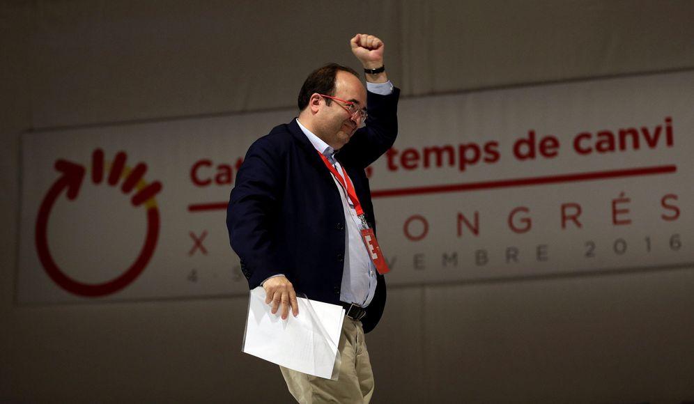 Foto: El primer secretario del PSC, el pasado 5 de noviembre, durante el XIII Congreso del partido, en Barcelona. (EFE)