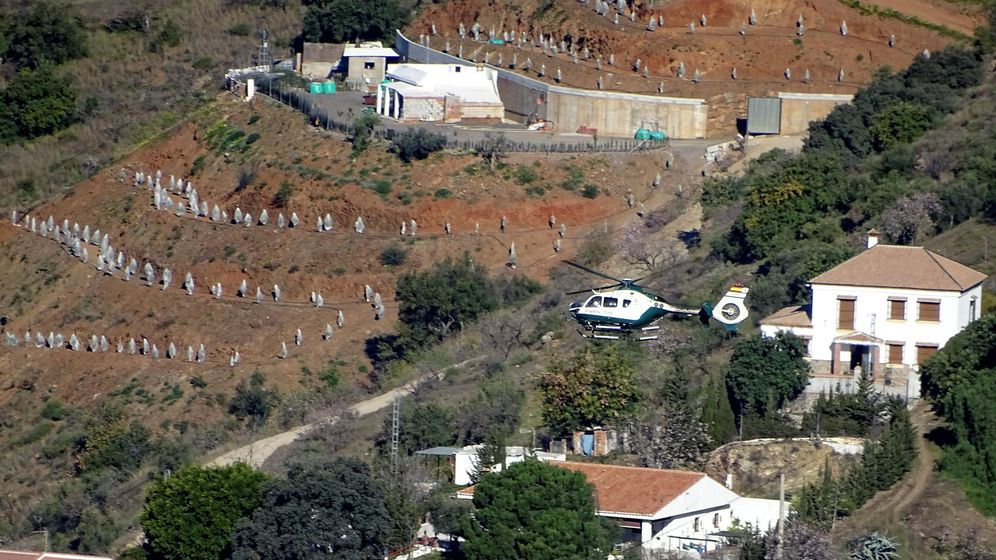 Foto: Vista en helicóptero de la finca donde se encontraba el pozo en el que murió Julen, en Totalán (Reuters).