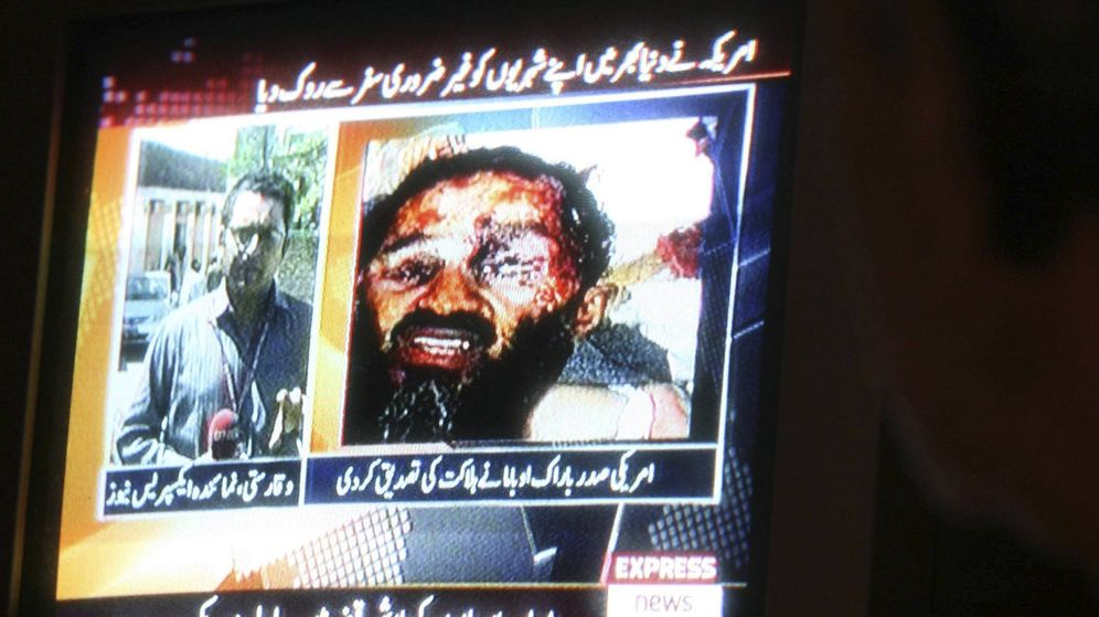 Foto: El cadáver de Osama bin Laden es mostrado en mayo de 2011 por la TV Karachi, Pakistán. (EFE)