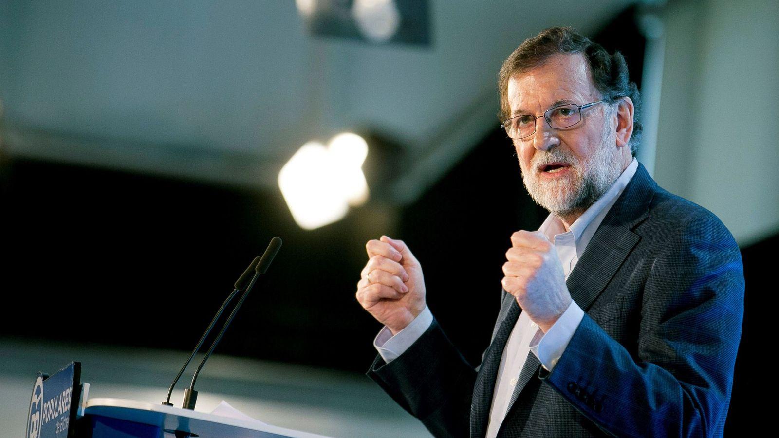 Foto: Fotografía facilitada por el PP del presidente del Gobierno y del PP, Mariano Rajoy, el pasado 17 de febrero. (EFE)