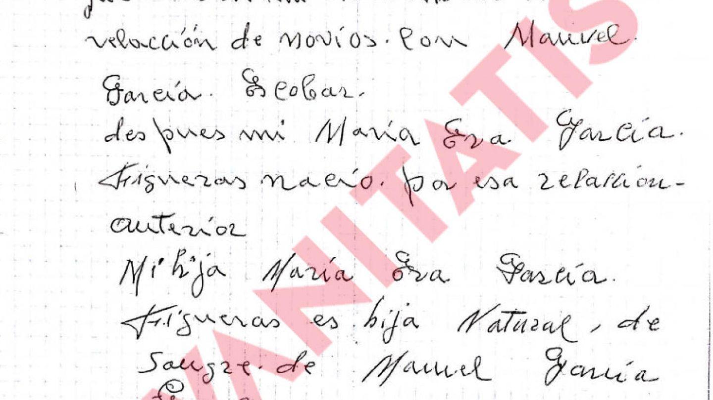 La nota manuscrita.