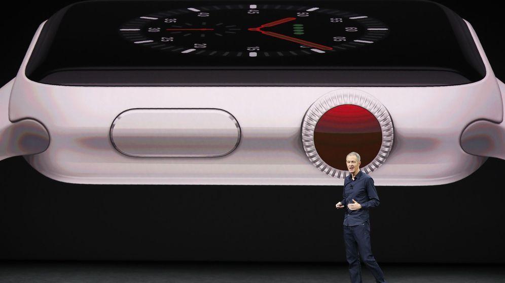 Foto: Williams, de Apple, habla durante el lanzamiento del Watch 3 (Reuters)